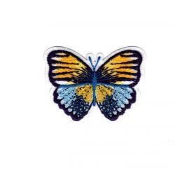 Patch Ecusson Thermocollant Papillon petites fleurs 4 x 5 cm