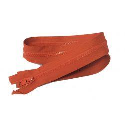 Fermeture Eclair Coloris Rouille 75 cm Séparable Ouvrable maille 5 mm largeur 3 cm blouson
