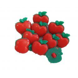Bouton Pomme en plastique 17 x 17 mm x 10 unités