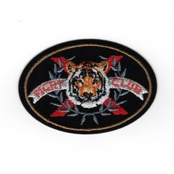 Patch Ecusson Thermocollant Tigre Fight club 4 x 6 cm