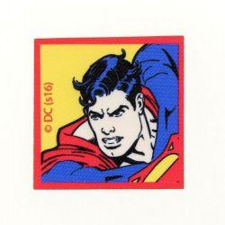 Patch Ecusson Thermocollant Superman 5,50 x 5,50 cm fond jaune