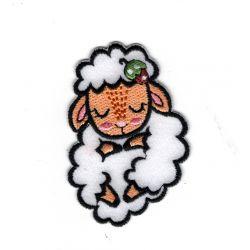 Patch Ecusson Thermocollant Mouton endormi 4 x 6 cm