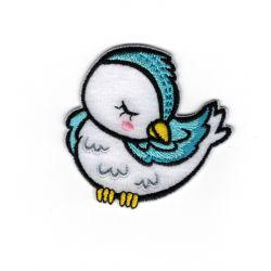 Patch Ecusson Thermocollant Oiseau endormi 5 x 5 cm