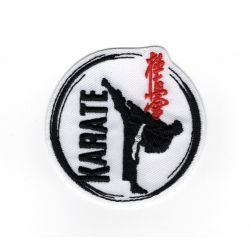Patch Ecusson Thermocollant Karaté karateka sport de combat 5 x 5 cm