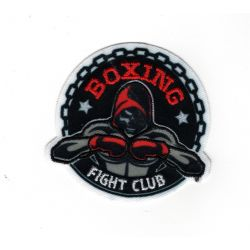 Patch Ecusson Thermocollant Boxe boxing sport de combat 5 x 5,50 cm