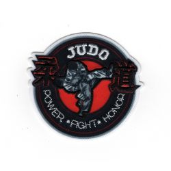 Patch Ecusson Thermocollant Judo judoka fight 5 x 5,50 cm