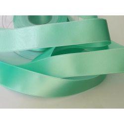 Ruban Satin Luxe Double Face 25 mm Coloris Vert d'eau 2 Mètres