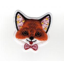 Patch Ecusson Thermocollant Tête de renard carnaval 4,50 x 5 cm