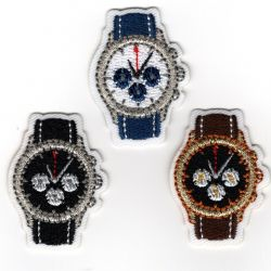 Patch Ecusson Thermocollant 3 x petite montre 2,50 x 3,50 cm