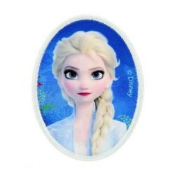 Patch Ecusson Thermocollant Elsa en médaillon Rein des neiges 5 x 7 cm