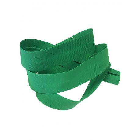 Ruban Biais Replié 20 mm Coton Polyester Vendu par 5 Mètres Coloris Vert printemps