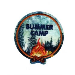 Patch Ecusson Thermocollant Summer camp d'été 5,50 x 6 cm