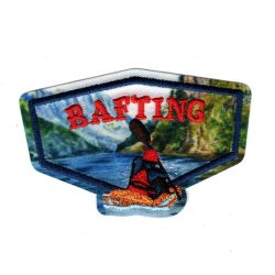 Patch Ecusson Thermocollant Rafting nature sauvage 4,50 x 7 cm