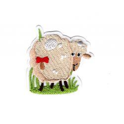 Patch Ecusson Thermocollant Mouton animaux du monde 4 x 4,50 cm