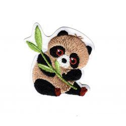 Patch Ecusson Thermocollant Panda animaux du monde 3,50 x 4,50 cm