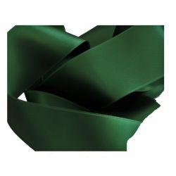 Ruban Satin Double Face 25 mm Coloris vert foncé longueur 6 Mètres