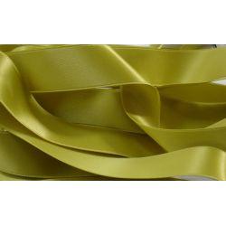 Ruban Satin Double Face 25 mm Coloris vert tilleul longueur 6 Mètres