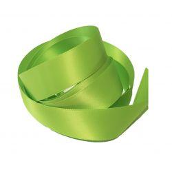 Ruban Satin Double Face 25 mm Coloris vert pomme longueur 6 Mètres