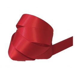 Ruban Satin Double Face 25 mm Coloris rouge longueur 6 Mètres