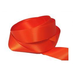 Ruban Satin Double Face 25 mm Coloris orange longueur 6 Mètres