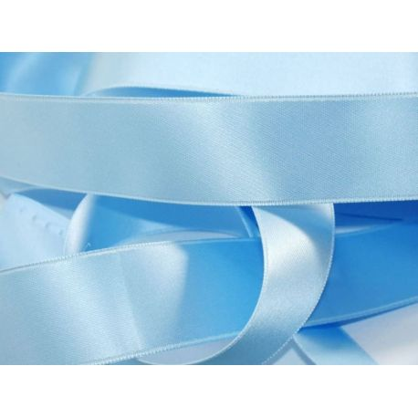Ruban Satin Double Face 25 mm Coloris bleu clair longueur 6 Mètres