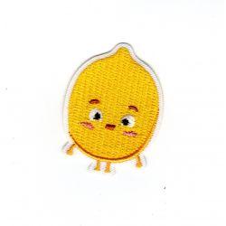 Patch Ecusson Thermocollant Citron avec des yeux 3 x 4,50 cm
