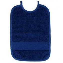 Bavoir à Broder Sans Poche Point de Croix 7 pts Coloris Bleu Foncé Taille 6 mois / 1 an