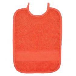Bavoir à Broder Sans Poche Point de Croix 7 pts Coloris Orange Taille 6 mois / 1 an
