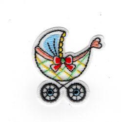 Patch Ecusson Thermocollant Landau bébé sur lin 4,50 x 5 cm