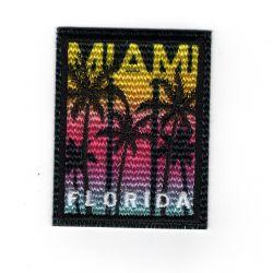 Patch Ecusson Thermocollant Miami Floride 4,50 x 6 cm