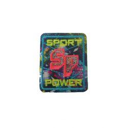 Patch Ecusson Thermocollant Sport power fluo 4 x 5 cm