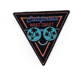 Patch Ecusson Thermocollant West Coast Californie 5,50 x 6 cm