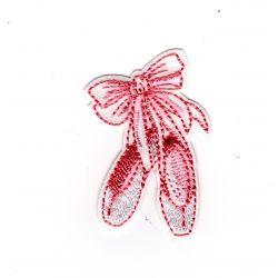 Patch Ecusson Thermocollant Chaussons de danse chaussons de ballerine 3,50 x 5 cm