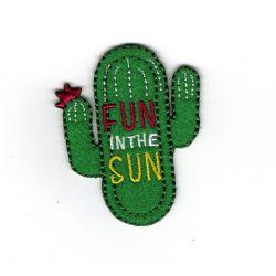 Patch Ecusson Thermocollant Cactus Fun in the sun 4 x 5 cm