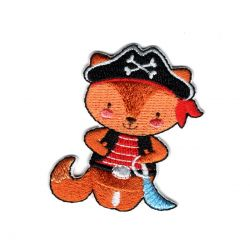 Patch Ecusson Thermocollant Renard pirate 4 x 5 cm