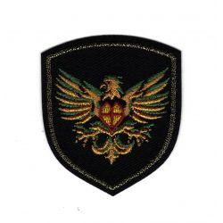 Patch Ecusson Thermocollant Blason Phoenix fond noir 5 x 6 cm