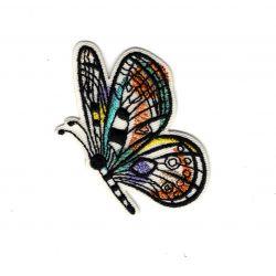 Patch Ecusson Thermocollant Papillon aquarelle 3,50 x 5,50 cm