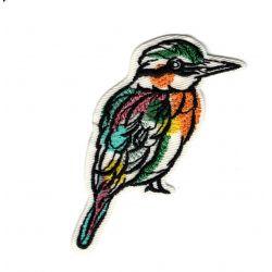 Patch Ecusson Thermocollant Oiseau aquarelle 4 x 6,50 cm