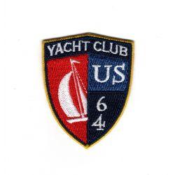 Patch Ecusson Thermocollant Blason Nautique Yacht club bateau 4 x 5 cm
