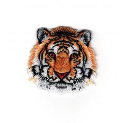 Patch Ecusson Thermocollant Tête de tigre 4 x 4 cm
