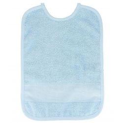 Bavoir à Broder Sans Poche Point de Croix 7 pts Coloris Bleu clair Taille 6 mois / 1 an