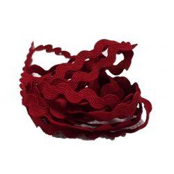 Galon croquet serpentine 8 mm coloris rouge foncé Vendu par 9 mètres