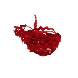 Galon croquet serpentine 8 mm coloris rouge Vendu par 9 mètres