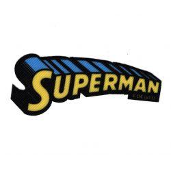 Patch Ecusson Thermocollant Superman H 3 x 8 cm