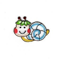 Patch Ecusson Thermocollant Escargot de jardin 3 x 4 ,50 cm