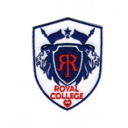 Patch Ecusson Thermocollant Royal college coloris blanc 4,50 x 6 cm