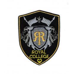 Patch Ecusson Thermocollant Royal college coloris noir 4,50 x 6 cm