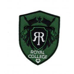 Patch Ecusson Thermocollant Royal college coloris vert 4,50 x 6 cm