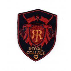 Patch Ecusson Thermocollant Royal college coloris rouge 4,50 x 6 cm