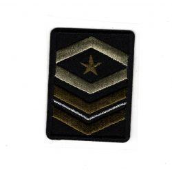 Patch Ecusson Thermocollant Galon insigne militaire 4 x 5,50 cm